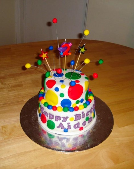 Ball themed toddler cake