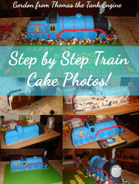 Step by Step Pictures of Train Cake