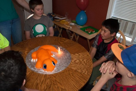 Charmander Birthday Cake