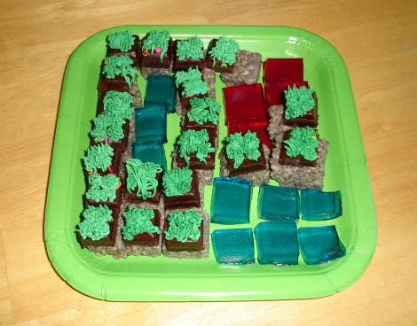 Edible Minecraft Scene