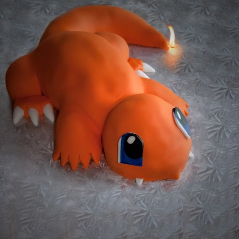 Finished Charmander Cake