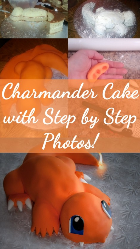 Pokemon Charmander cake with Step by Step Photos